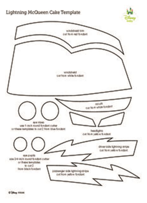 cars cake template lightning mcqueen cake template pdf drive