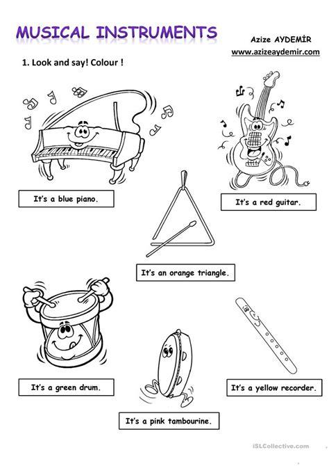 printable music games for kindergarten musical instruments worksheet free esl printable