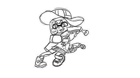 Splatoon 2 Sketches by Splatoon 2 Inkling Drawing Splatoon Amino
