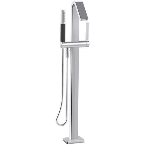kohler freestanding tub faucet shop kohler loure polished chrome 1 handle fixed freestanding bathtub faucet at lowes