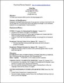Functional Resume Formats by Functional Resume Sles Exles Sles Free Edit With Word
