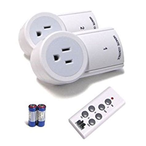 battery powered outlet for l christmas etekcity 174 2 pack wireless remote control outlet