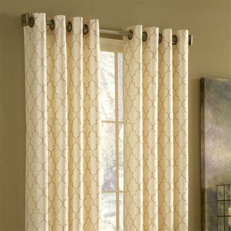 gromet drapes stylemaster hudson grommet top curtain panel panels