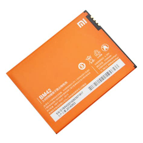 Baterai Batre Battery Xiaomi Bm42 Xiaomi Redmi Note 1 Original replacement battery for xiaomi note 3100mah bm42