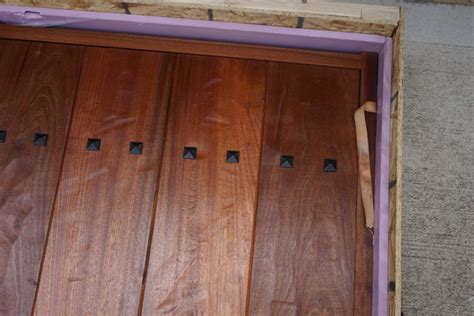 insulated wine cellar entry door rustic by
