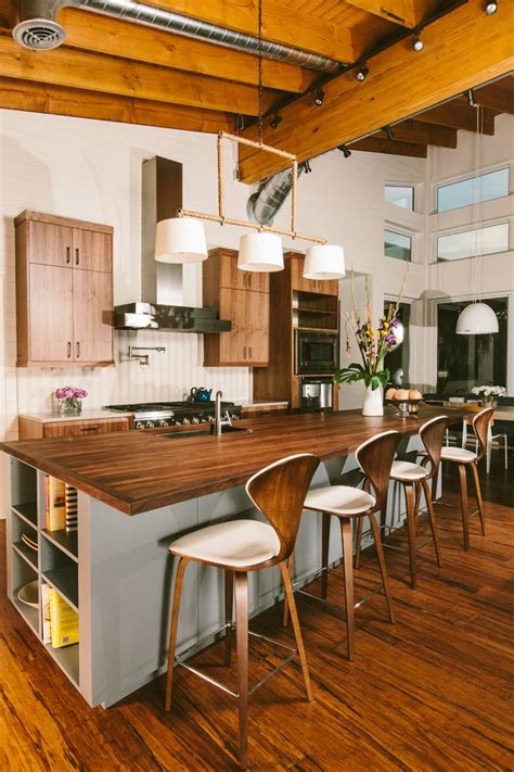 exposed ceiling beams in kitchen rattan bar stools home chicago bar stool kitchen industrial with exposed beams