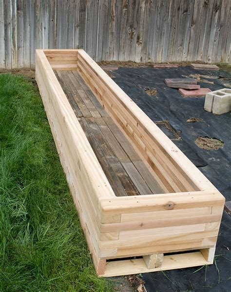 How To Make A Raised Planter by Reclaimed Raised Garden Bed Planter 3 Custom By Rushton Llc
