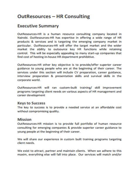 4 Hr Consulting Business Plan Templates Pdf Free Premium Templates Consulting Business Plan Template