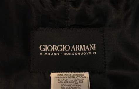 Labels For Armani by S Giorgio Armani Black Label Raincoat In Aubergine For
