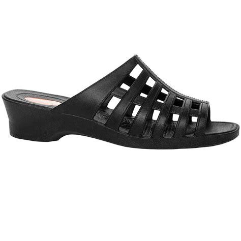 okabashi womens black sandal shoes orthopedic arch