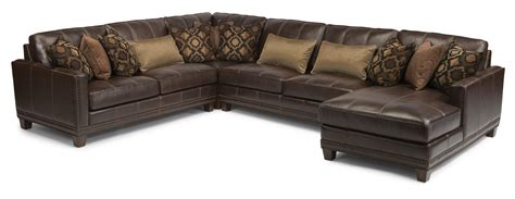Flexsteel Sectional Sofa Flexsteel Latitudes Port Royal Transitional Four Sectional Sofa With Raf Chaise Reeds