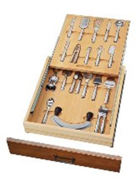 Two Tier Cutlery Tray Drawer Inserts by Premium Wood Two Tiered Cutlery Drawer Inserts 20 1 2