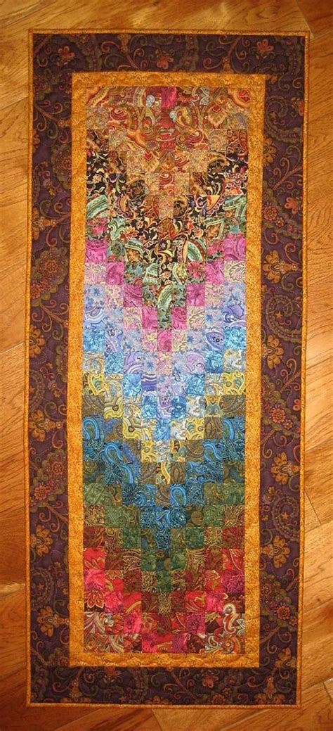 Handmade Fabric Wall Hangings - quilt paisley fabric wall hanging handmade