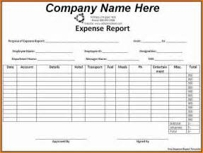 monthly expense report template 5 expenses template expense report