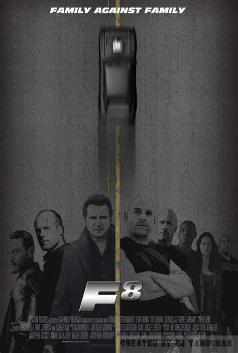 fast and furious 8 poster f8 fast and furious 8 fan poster by ejtangonan on deviantart