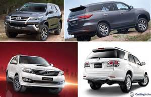 new fortuner car toyota fortuner vs new comparison