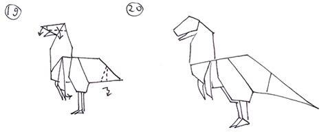 Origami Allosaurus - how to make an allosaurus