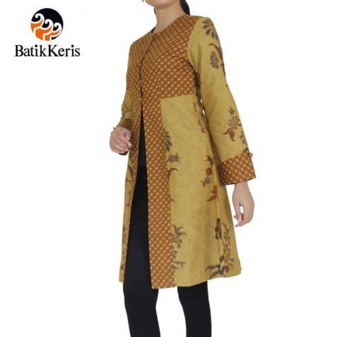 Outer Polos Lengan Panjang Simpel Elegan outer batik lengan panjang motif lar condrowinoto kombinasi nitik rahayu batik keris