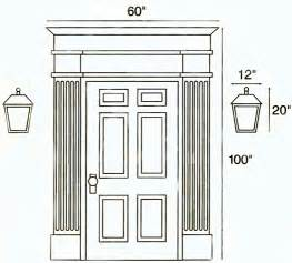 Front Door Measurements Outdoor Ls Should Be Approximately One Fifth The Height And Width Of The Doorway Including