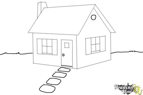 house to draw how to draw a house step by step drawingnow
