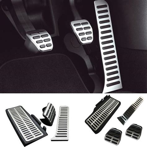 Pedal Gas Manual 1 stainless steel car footrest clutch brake gas pedal manual