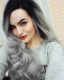 can gray hair turn black again magnifying ombre grey hair colors pretty hairstyles com