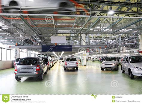 lada factory workshop with new lada kalina cars editorial photography