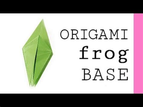 Frog Base Origami - origami frog base