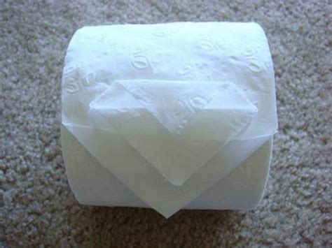 Toilet Paper Origami Flower - toilet paper origami