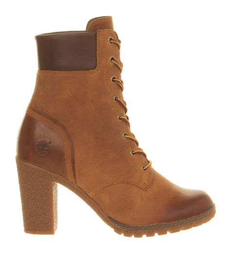 timberland glancy 6 inch heel boot in brown wheat lyst
