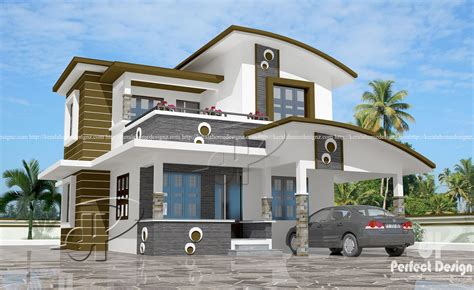 home designes 1560 sq ft contemporary home design kerala home design