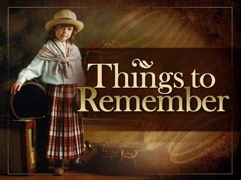 Remember These by Things To Remember Ministry127