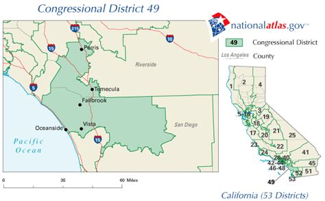 california 49th district map california 49th congressional district rep current 110th