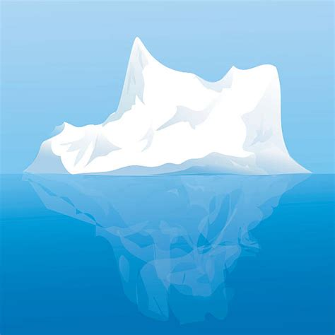 clipart iceberg iceberg clipart vector pencil and in color iceberg
