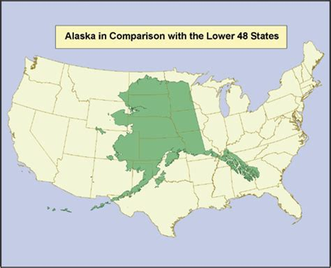 alaska map compared to us alaska water resources