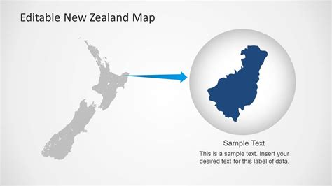 template of new zealand map editable new zealand map powerpoint template slidemodel