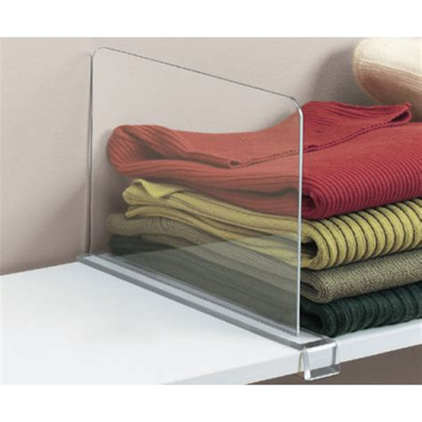 Closet Dividers Acrylic Shelf Divider In Shelf Dividers