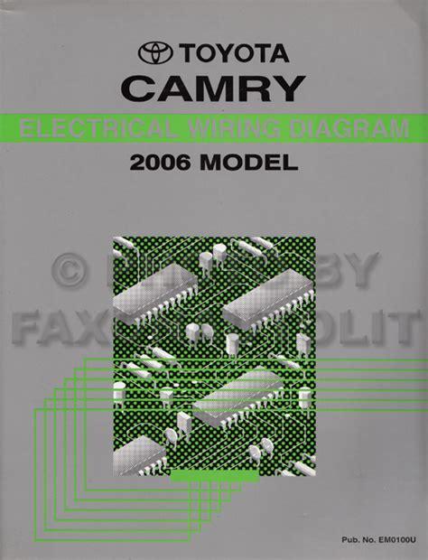book repair manual 2008 toyota camry hybrid security system 2006 toyota camry wiring diagram manual original