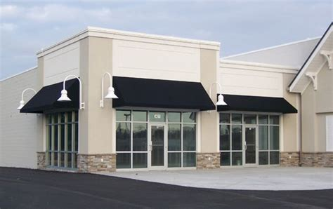 awnings for commercial buildings simple black fabric awning classic storefront design