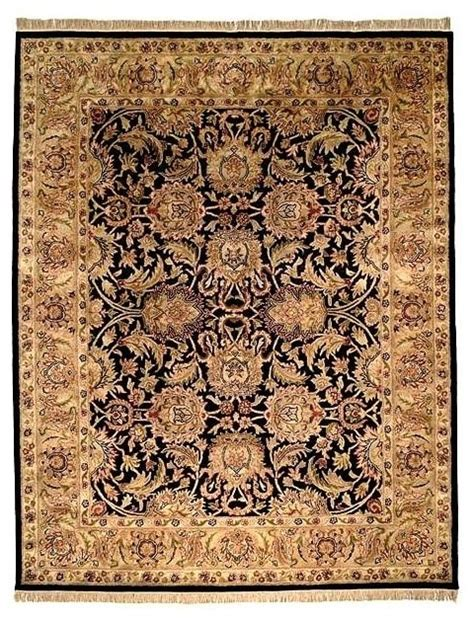 Black And Gold Rugs by Wool Area Rug In Black And Gold Traditional Area Rugs
