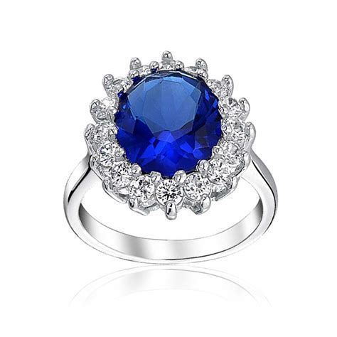 Royal 4ct CZ Sapphire Color Engagement Ring Kate Middleton