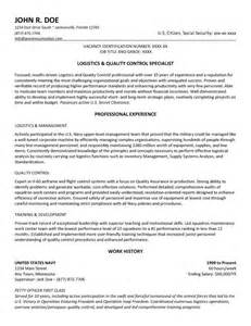 federal government cover letter sle government resume exle and template to use