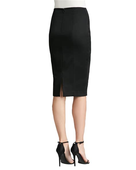 st collection structured stretch satin pencil skirt