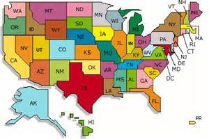 United States Map State Abbreviations by Us Map States Abbreviations Images