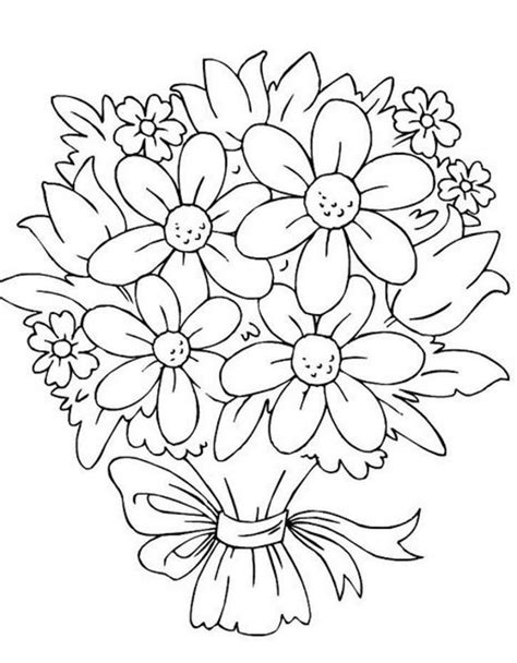 coloring pages of bunch of flowers gallery bouquet of flowers drawing drawing art gallery