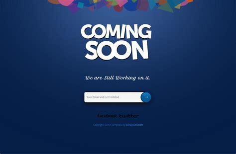 40 Free Html Coming Soon Maintenance Under Construction Website Templates Utemplates Coming Soon Template
