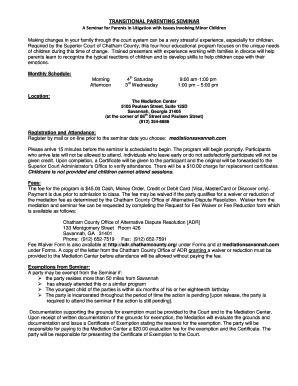 Chatham County Court Search System Transitional Parenting Fill Printable Fillable