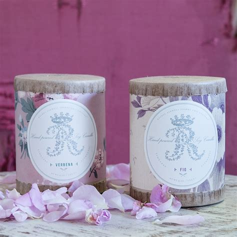 vintage wallpaper fig and verbena candle from rachel