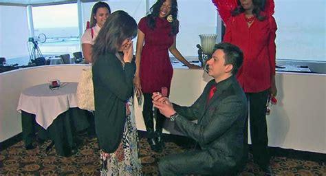 robbins brothers customer proposes to robbins brothers glendale customer proposes at sky room on