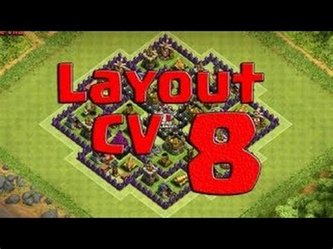 layout cv 8 farming youtube layout cv 8 farm 4 morteiros clash of clans youtube